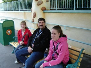 Ashley and her father during a family trip to Disneyland